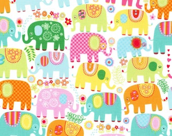 Happy Elephants from the Novelties Collection from Michael Miller Fabrics, Elephants