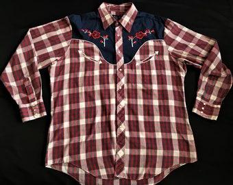 Vintage Western Floral 70's Shirt