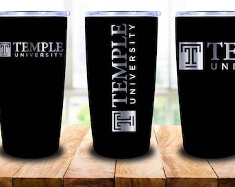 Yeti, Temple University Laser Engraved Yeti 20oz Tumbler