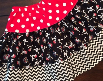 Pirate Halloween or Disney twirl skirt