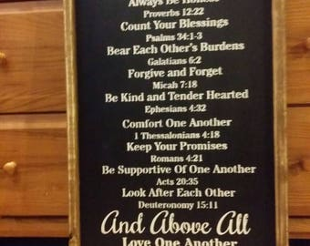 Family Rules Sign / Wooden Wall Decor / Housewarming Gift/ Wall Hanging.