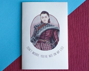 Game of Thrones Arya Stark Card