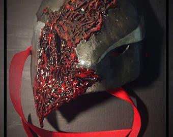 Torn Armor Cosplay Mask OOAK