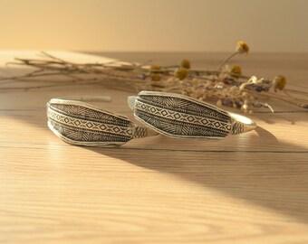 African Tuareg Shield Cuff Bangle Bracelet, Antique Silver Tuareg inspired cuff bangle bracelet, Tribal bracelets, Silver Tuareg Jewellery