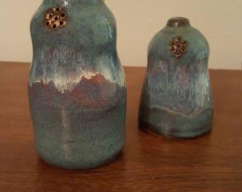 Blue Pottery Salt & Pepper Shakers