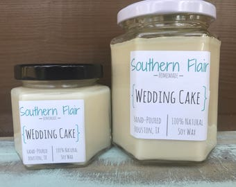 SALE!!! 1.00 OFF Wedding Cake - Pure Soy Candle Scented