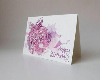 Labradoodle Sketch Happy Birthday Card