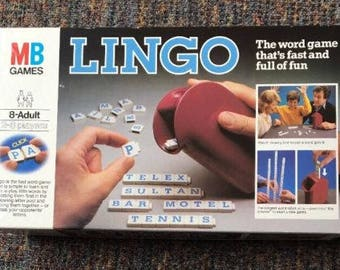 Vintage retro 1980s Lingo game from MB games