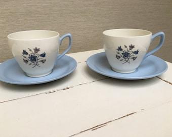Vintage Copeland  Spode England  Hamilton Two teacups and Saucers