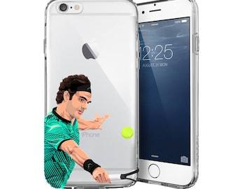 Roger - Tennis Phone Case - Transparent Case - Clear Case - Transparent iPhone 7 - Clear iPhone 7 Plus - iPhone 6/6s case