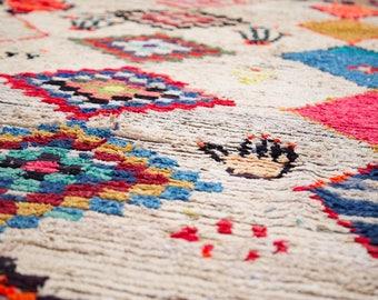 Boucherouite Rug Moroccan Rug Vintage Rug (Las Manitas)
