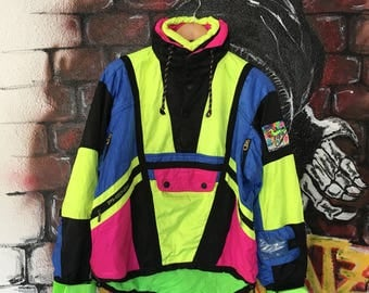 Vintage Phenix Gilles Becker Outdoor Jacket Multi Colour