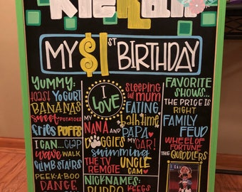 First birthday chalkboard