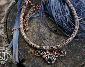 Viking necklace, Viking jewelry, Viking pendant, Viking knit, Wire wrapped necklace, Wire wrap pendant, Wire wrapped pendant, Wire necklace