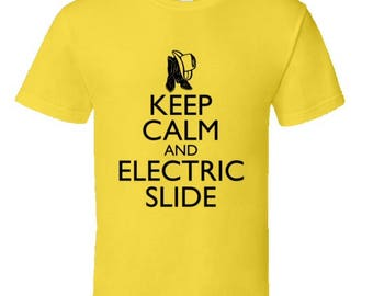 Line Dancing T-Shirt,Keep Calm And Electric Slide,line dancing tees,cool country gear,line dancing clothes,country music gifts