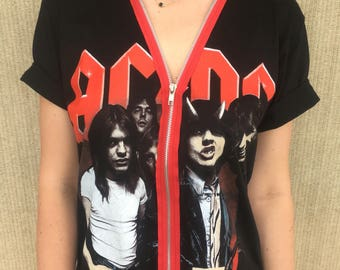 AC/DC Highway to Hell ACDC Zip Up Band Tee