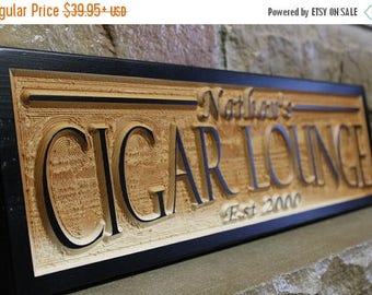 ON SALE cigar bar sign, custom name sign, wood wall art, boyfriend gift, cigar lounge sign, reception sign, wedding bar signs, personalized