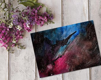 Galaxy Watercolor Painting, Galaxy Watercolor, Galaxy Painting, Galaxy Artwork, Galaxy Art Print, Galaxy Wall Art, Watercolor Painting