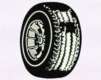 Meticulous Rubber Wheel Embroidery Design | 4x4 Hoop Embroidery Design | Machine Embroidery Design | Embroidery Designs | Emb Design