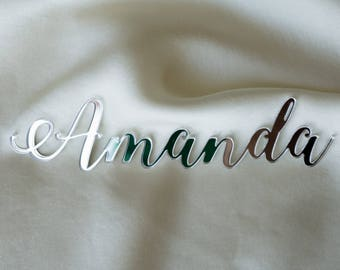 Laser cut names, Set of wedding place cards, wedding table signs, acrylic place cards, name cards, name cards wedding