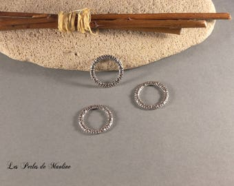 Set of 4 rings closed wit - 14.5 mm - silver