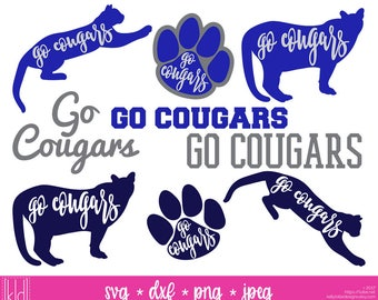 9 Cougar SVG - Go Cougars - Cougar Nation - High School or Little League Team - Cougars svg - Cougar Baseball