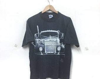 Rare!!! Vintage Mack Truck By Wild oats Trucker Tshirt