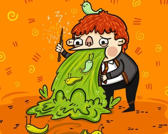 Ron Weasley Harry Potter Fan Art Illustration