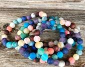 Rainbow chakra colorful natural stone gemstone stretch multi color