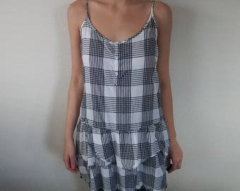 Black & White Plaid Dress/Top