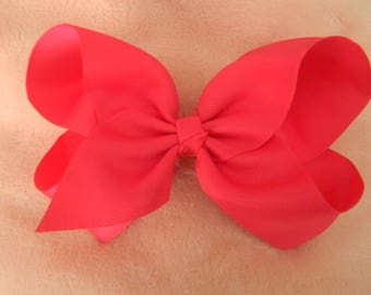 Hot Pink JoJo Bow-6 inch-alligator clip
