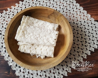 cream lace layer photo prop