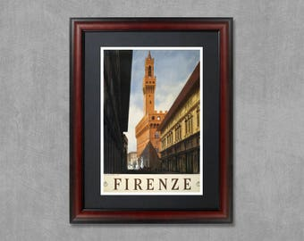 Florence Italy, travel poster, Florence print, Florence poster, Italy print, Florence wall art, Florence art, Firenze print, Firenze poster