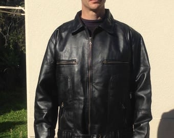 Vintage Faux Leather Mens Jacket Made in Italy Size XXL