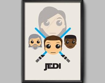 Jedi fan art poster print