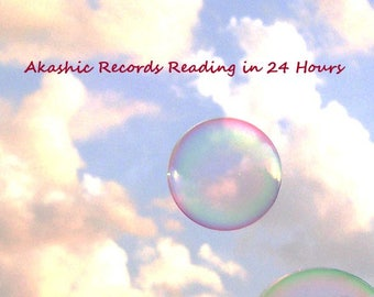 24 hour delivery: Akashic RECORDS Reading