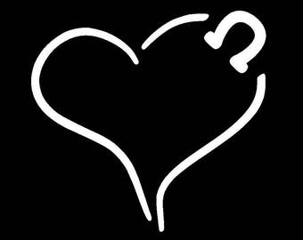 Heart with horseshoe Decal