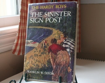Sinister Sign Post/ Hardy Boys Books/ Teen Mystery Book/Hardy Boys with DJ /Boy Adventure Book/ HappytownVintage