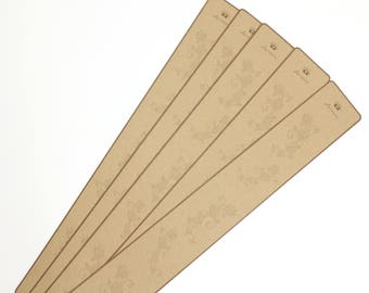 "10 pieces 2.5""x 18"" Hair Clip Display Card in Brown Kraft Paper for Hair Accessories and Jewelry for DIY (with hanging on top)"