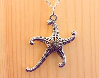 Starfish necklace / alternative mermaid necklace