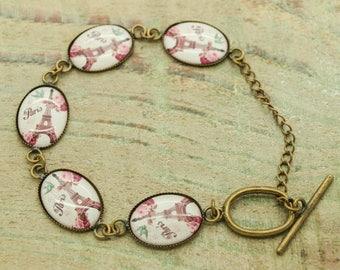 bronze Bracelet Kit and 5 sticker (model 3) resin cabochons