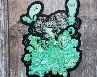 Ectoplasm - Halloween themed 3 Inch Die Cut Weatherproof Vinyl Sticker /Decal from Drawlloween /Inktober 2017