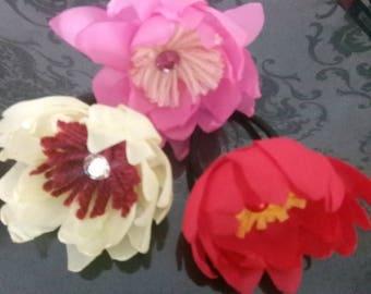 handmade floral hair band