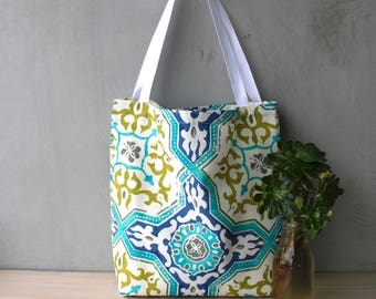 Tote Bag - Shopping Bag - Handbag - Gifts for her - Birthday - Tropical - Floral - Colourful - Summer Bag - Moroccan - Moroccan Tile - Cool