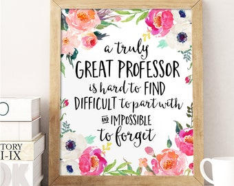 Professor gift etsy professor gift a truly great professor is hard to find office decor professor negle Choice Image