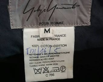 Rare Yohji yamamoto pour homme pant/blue/waist 32/33/ made in france/ys for men/cdg