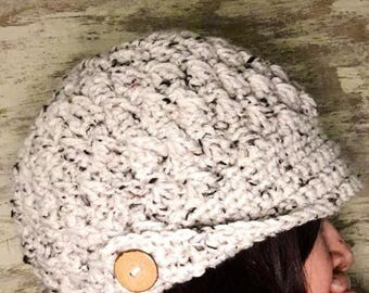 Newsboy Cap / Womans Peaked Cap Hat / Colors Customized to your choice/ Winter Hat /