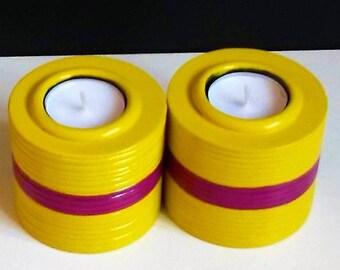 gift for her, gift for mum, gift for friend,yellow tea light holders, tea light holders, candle holders