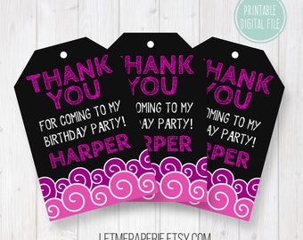 Pool party thank you tags, Birthday thank you tag, Pool party favor tags, Birthday favor tag, Pool party gift tags, Birthday gift tag