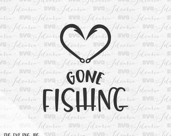 Heart fish hook svg, gone fishing svg, funny svg, fishing svg, fish svg, fishing pole, svg hunting, svg lake svg, summer svg, camping svg